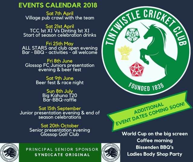 TCC Events 2018