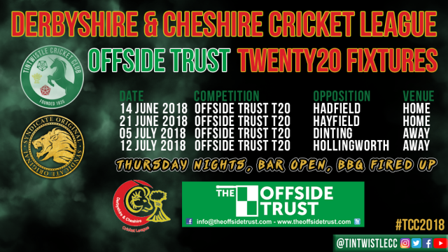 TCC Twenty20 Fixtures 2018