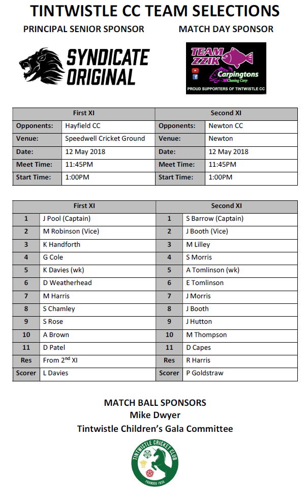 Senior Teams 12_05_2018