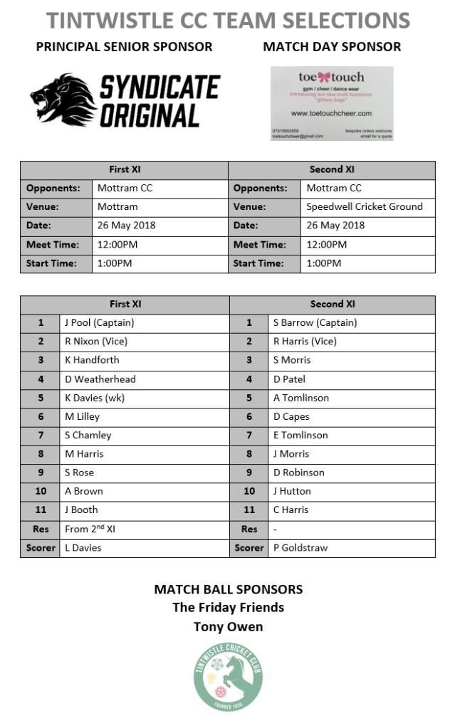 Senior Teams 26_05_2018